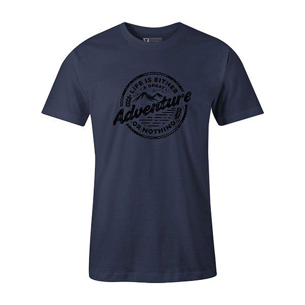 Adventure T shirt heather denim