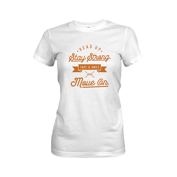 Fake A Smile And Move On T shirt white