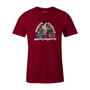 Hot Rod Builder T Shirt Cardinal