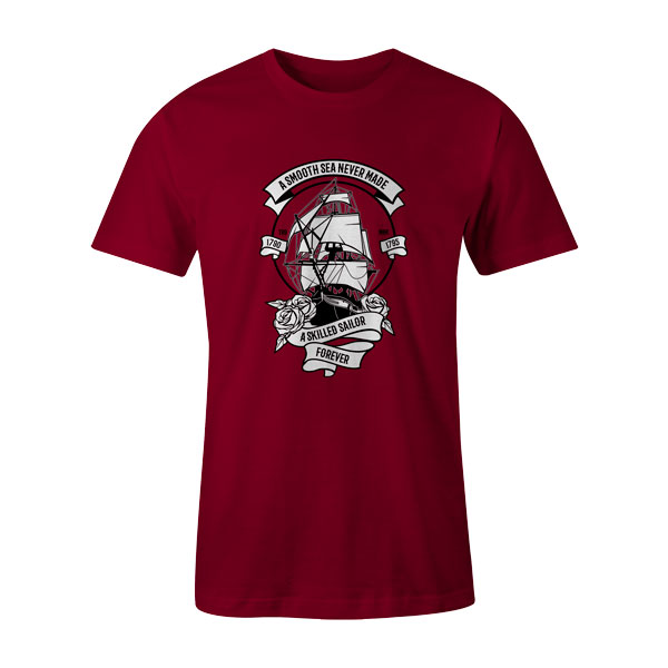 A Skilled Sailor T Shirt Cardinal