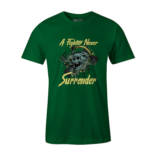 A Fighter Never Surrender T shirt kelly
