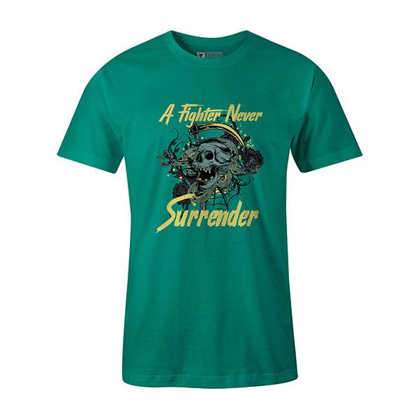 A Fighter Never Surrender T shirt mint