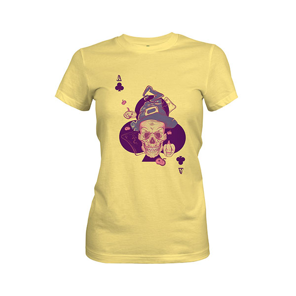Ace of Clubs T shirt banana cream