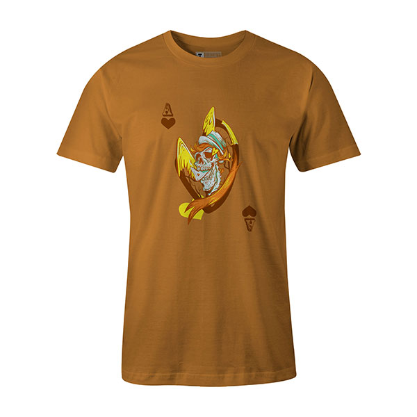 Ace of Hearts T shirt ginger