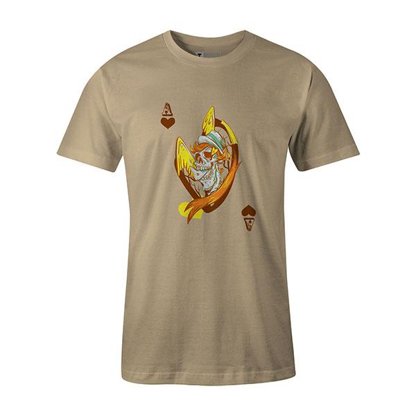 Ace of Hearts T shirt natural