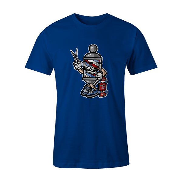 Barber Skater T Shirt Royal