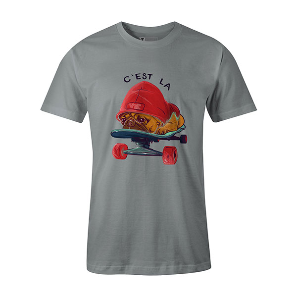 C est La Vie T shirt silver