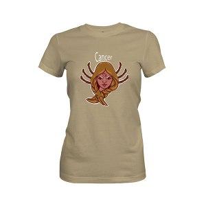 Cancer T shirt light olive