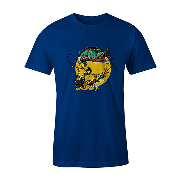 Fly Fishing T shirt royal