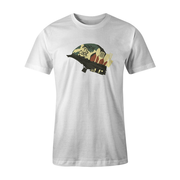 Born To Cook T Shirt White