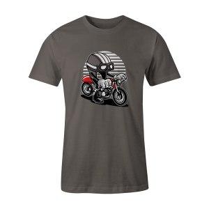 Cafe Helmet Racer T Shirt Charcoal