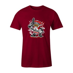 Cigarette Killer T Shirt Cardinal