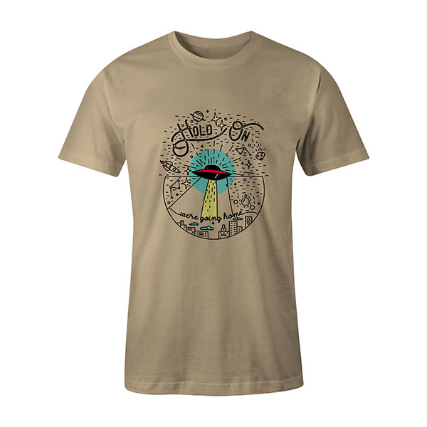 Hold On Were Going Home T shirt natural