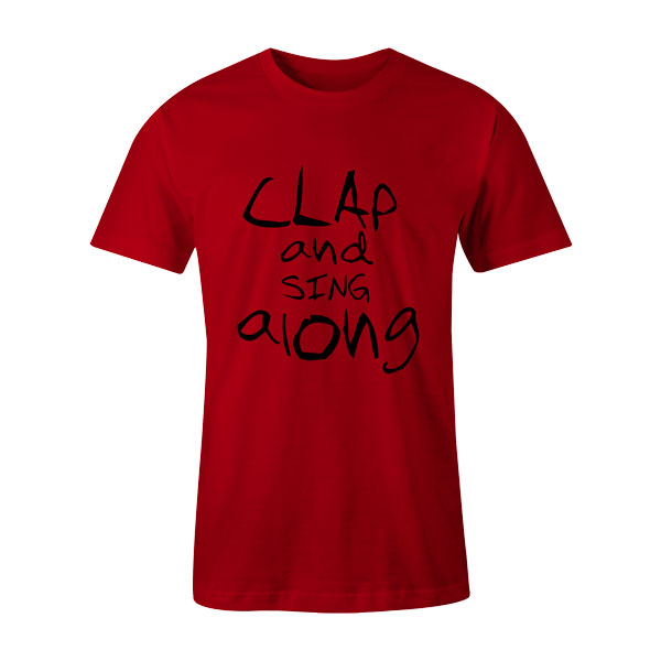 Clap and Sing Along T Shirt Red