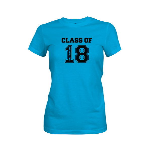 Class of 2018 T Shirt Turquoise