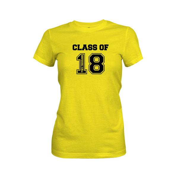 Class of 2018 T Shirt Vibrant Yellow