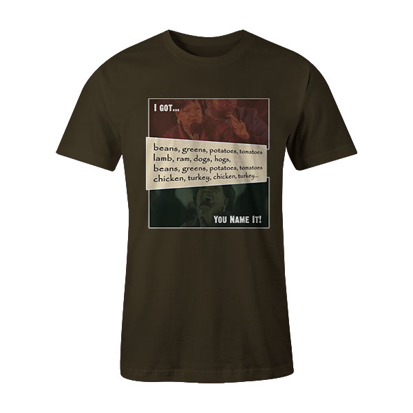 Beans and Greens T Shirt Army2