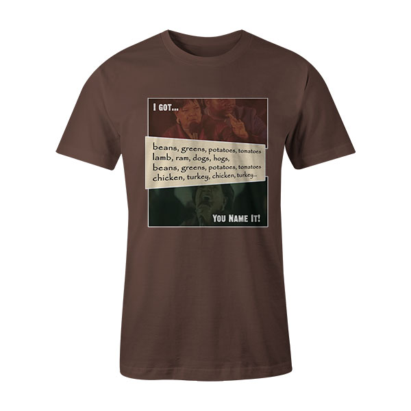 Beans and Greens T Shirt HeatherBrown2