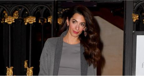Amal Clooney Just Styled Her Elegant Gray Dress With the Most Badass Handbag