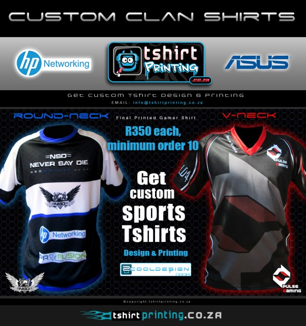 Custom Clan shirts, gamer shirt printing
