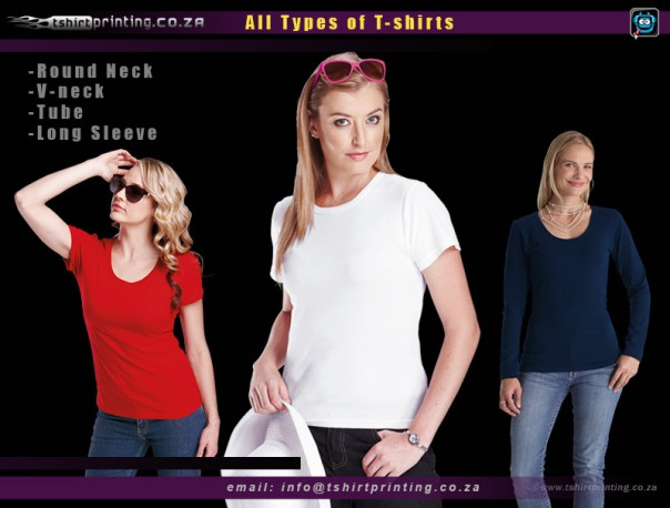 Ladies Tshirts, Round neck / V-neck ladies thsirts, Tube fit ladies tshirts , Long sleeve ladies shirt supplier and tshirt printing, thsirt