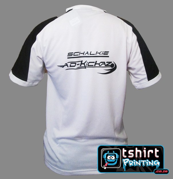 printed soccer shirt for adcorp corporate soccer event