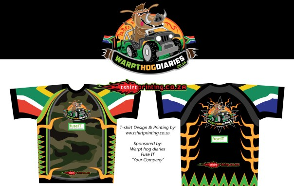 warp-shirt, warpthogdiaries concept sublimated shirt design idea, South African t-shirt