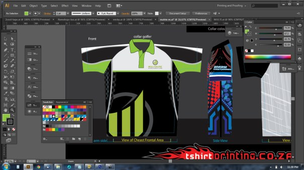 all over printed golf shirt template in vector ai