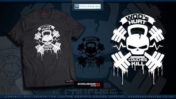flat grey presentation clothing shirt design cross fit - Cool T Shirt Design Ideas