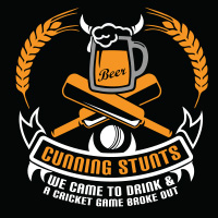 Cunning stunts cricket team logo by tshirtprinting.co.za