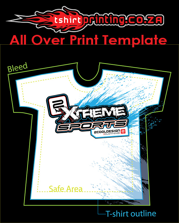 All Over Print Template Download