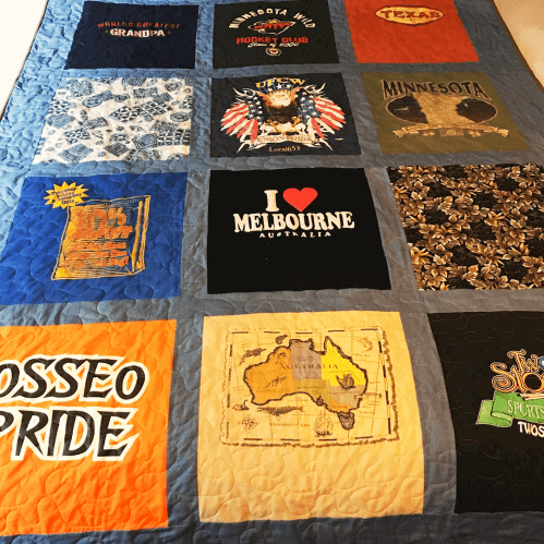 Block style t-Shirt Quilt