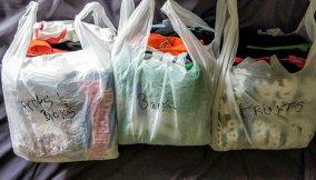 bundled in bags
