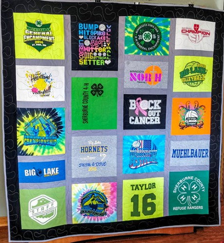 T-Shirt quilt bright colors