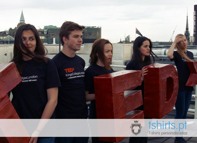 T-shirts para eventos: Tedx kings College London