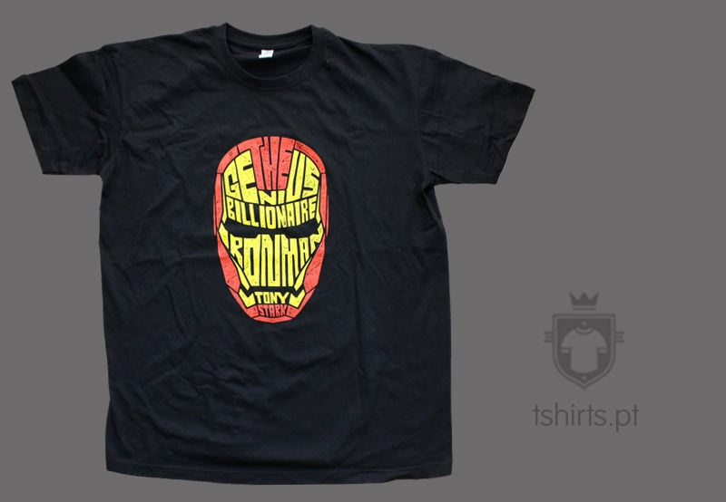 T-shirts iron man serigrafia