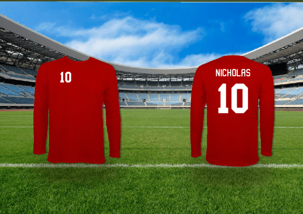 Custom Printed Football Team Shirts - You Pick the Colour, Name and Number