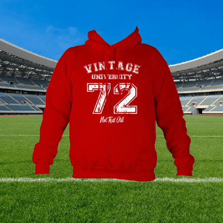 Vintage Custom Hoodie - You choose from 57 colours and your own text