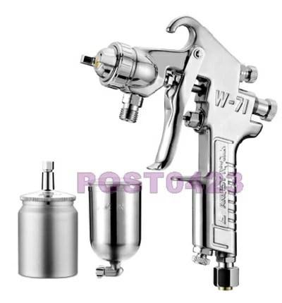 噴漆槍 油漆噴槍 W-71G 400C.C. 下壺式油漆噴槍 2.0mm標準噴嘴 金屬汽車噴漆工具 專業級油漆噴槍 | 小工人 - Rakuten ...