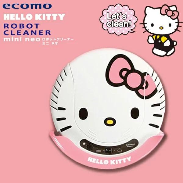 【精選】結帳價$2990 日本家電-KITTY-吸塵器-掃地機 ecomo Hello Kitty掃地機器人(KT-R01) 完美主義【U0122】 @ 王柔芬的 ...