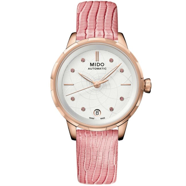 Mido 美度錶 M0432073601100 Rainflower系列 時尚優雅蓮花女腕錶 /白面 34mm | 大高雄鐘錶城 - Rakuten樂天市場