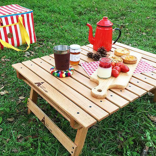 【露營趣】HOT CAMP HC816 紅橡實木野餐桌 料理桌 摺疊桌 摺疊小矮桌 露營桌 | 露營趣 - Rakuten樂天市場