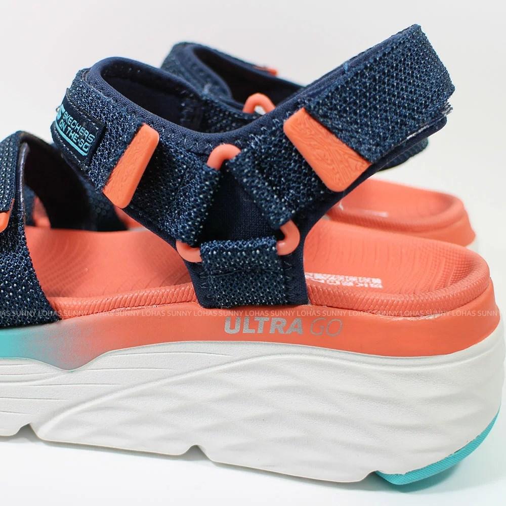 (B3) SKECHERS Max Cushioning-Slay 女休閒涼鞋 140120NVMT 厚底 緩衝 柔軟 耐磨 [陽光樂活] | 陽光運動館 - Rakuten樂天市場