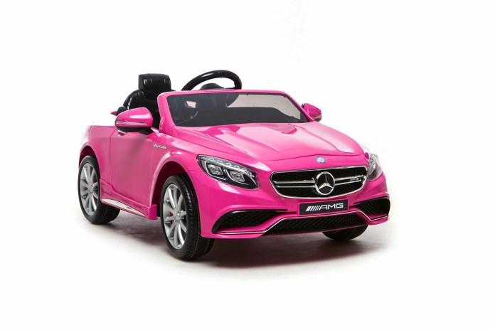 smartecom: 12v mercedes s63 ride on electric car for kids for girls