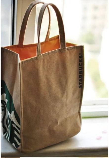 *vivi shop* STARBUCKS帆布時尚肩背手提(中.大)包包(可放A4.雜誌資料款)-外貿單特惠款. | ViVi Shop 日韓雜貨衣舖 ...
