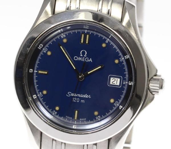 CLOSER: Omega Cima star 120 2511.80 QZ navy clockface men ...