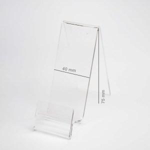 Plexi holder for mobile phones