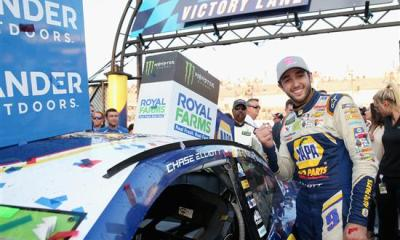 Chase Elliott wins first race of Round 2 of the Playoffs at Dover