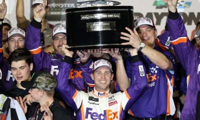 Denny Hamlin Leads Joe Gibbs Racing to a 1-2-3 Sweep in the 61st Daytona 500, Honoring JD Gibbs