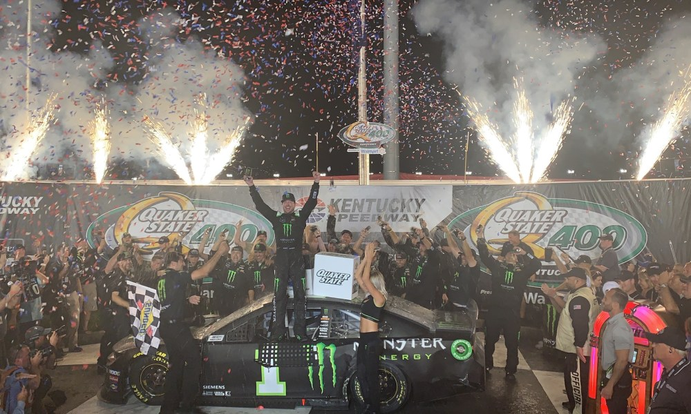 Kurt Busch Earns First Chevrolet Win at Kentucky